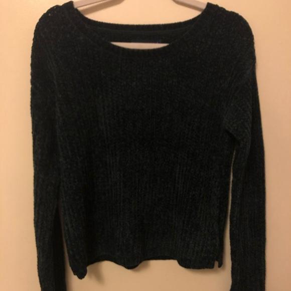 NEW Aeropostale Junior Girls Long Sleeve Soft Black Sweater M Medium
